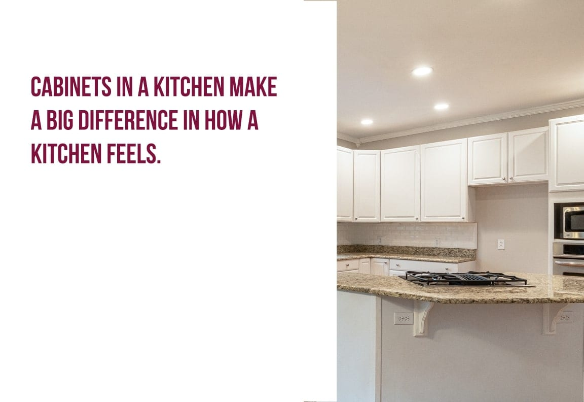 cabinets in a kitchen