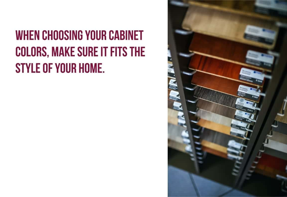 when choosing your cabinet colors