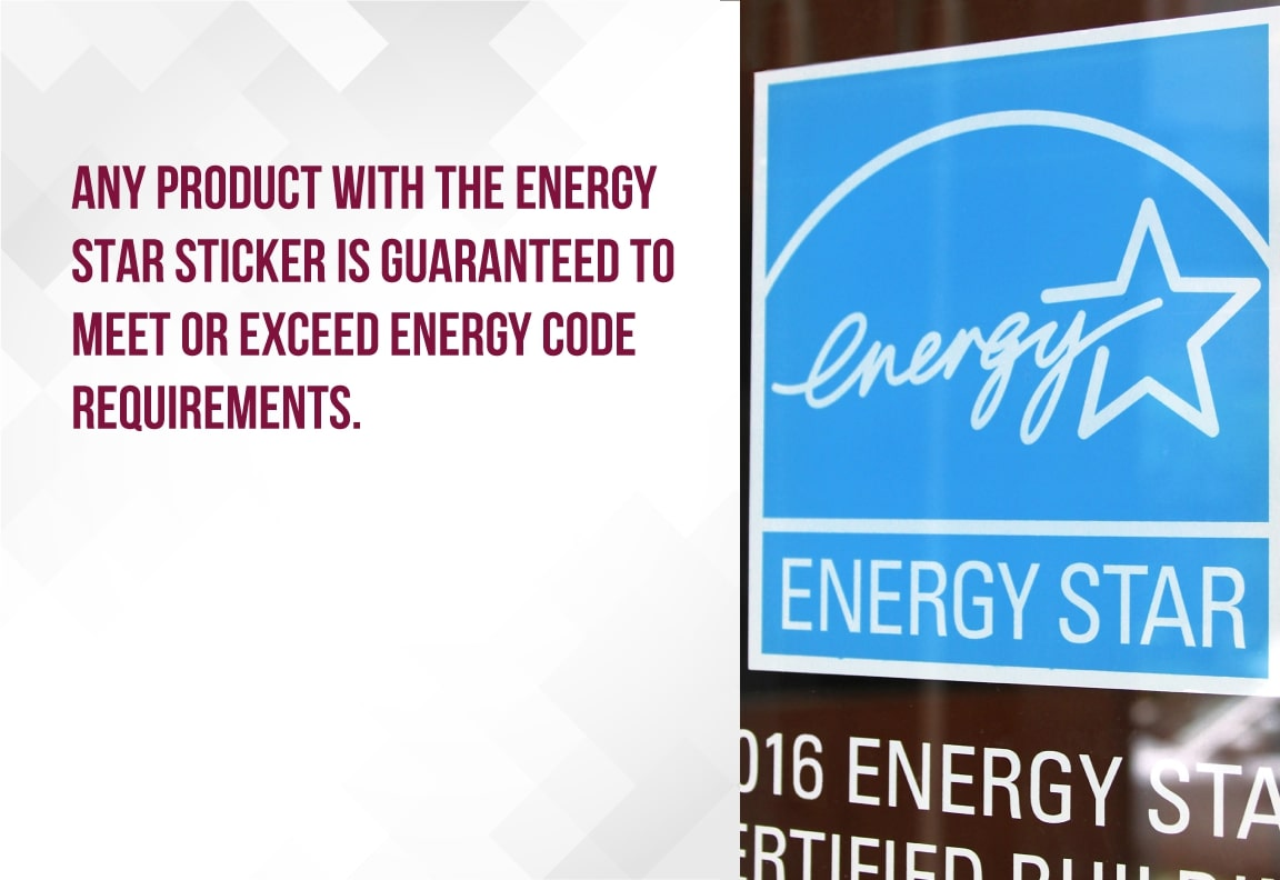 Install windows with energy stickers