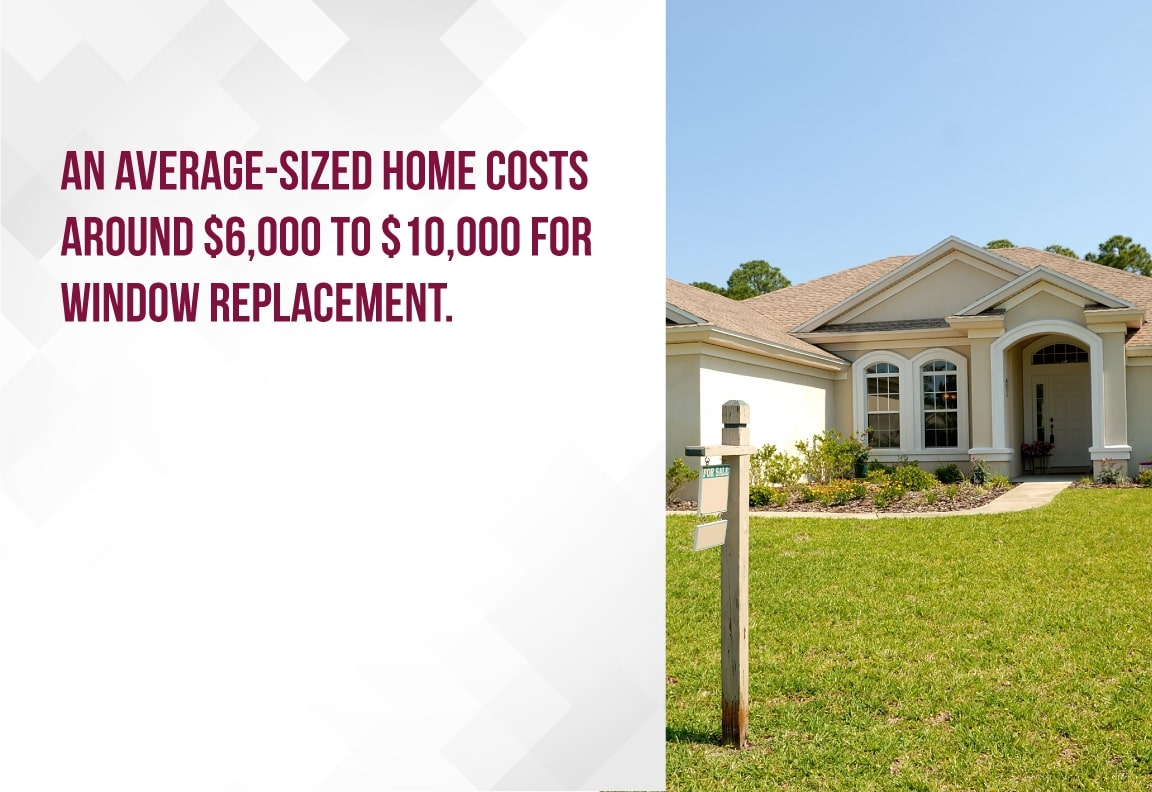 average sized home window replacement cost