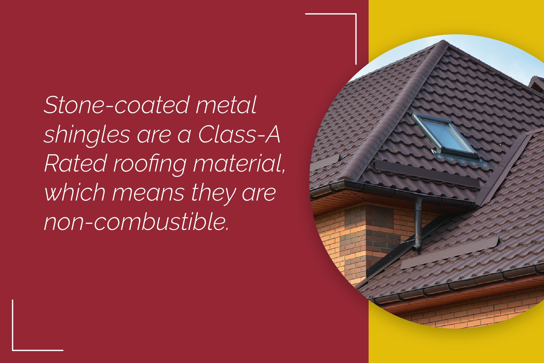 Decra roofing is non combustible