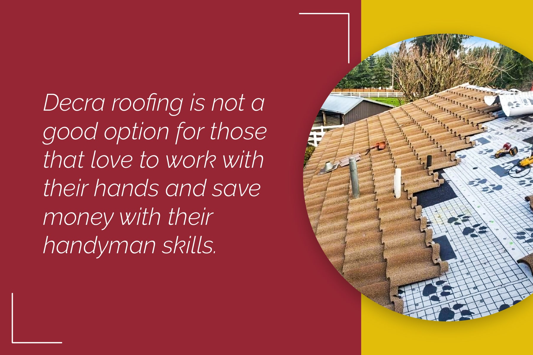 How to install decra metal roofing