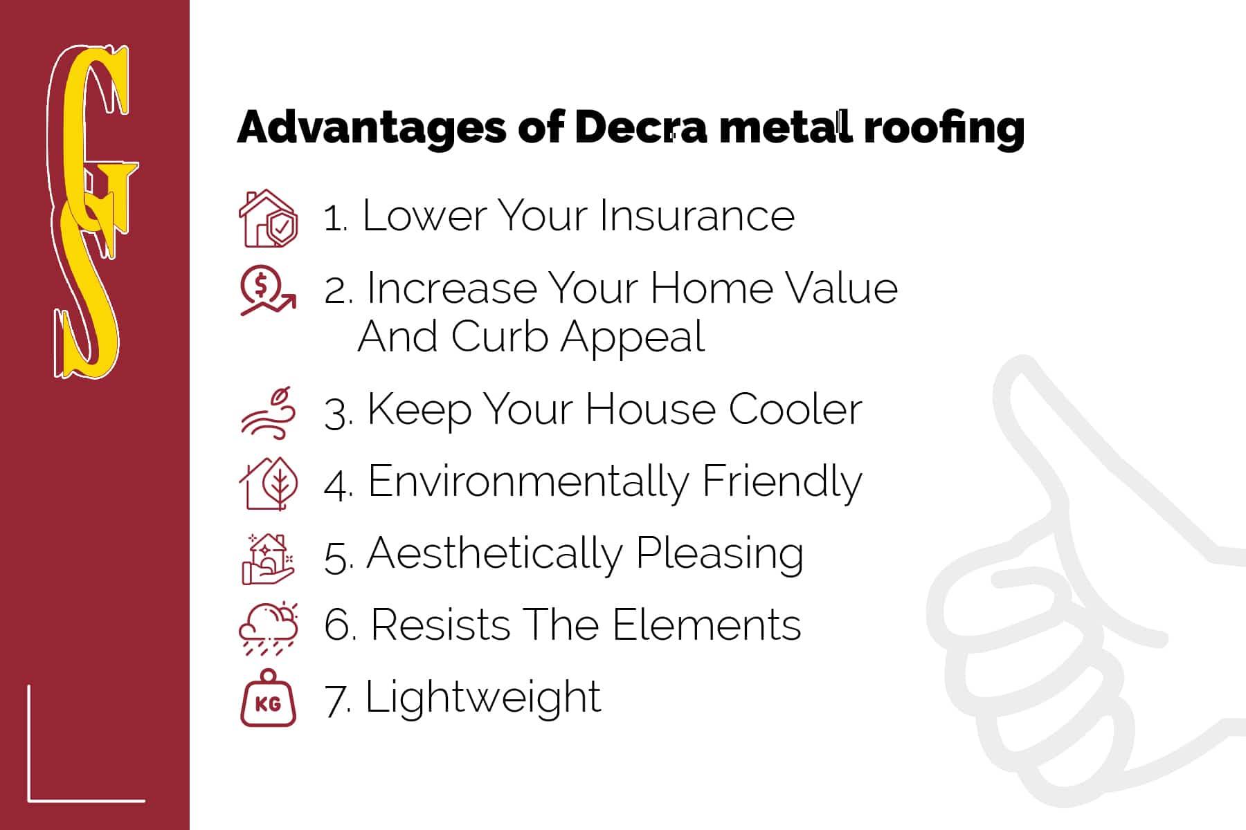 advantages of decra metal roofing