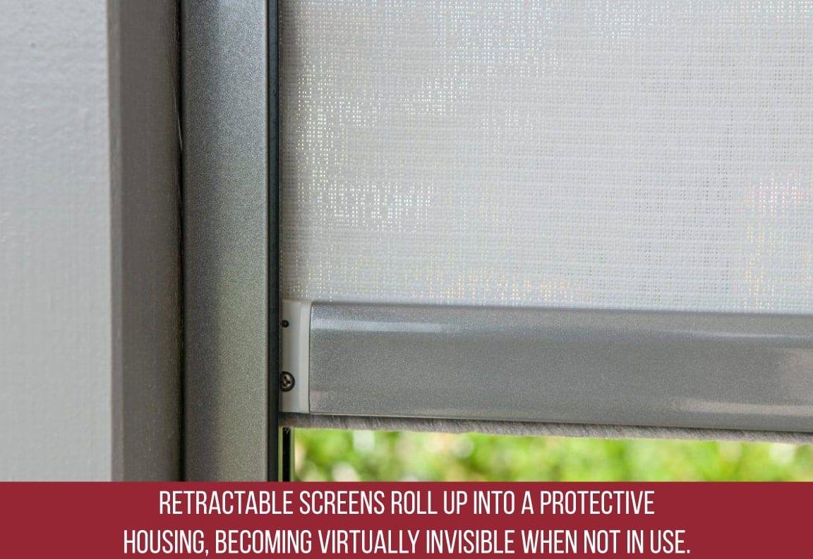 retractable screens are a special storm door feature